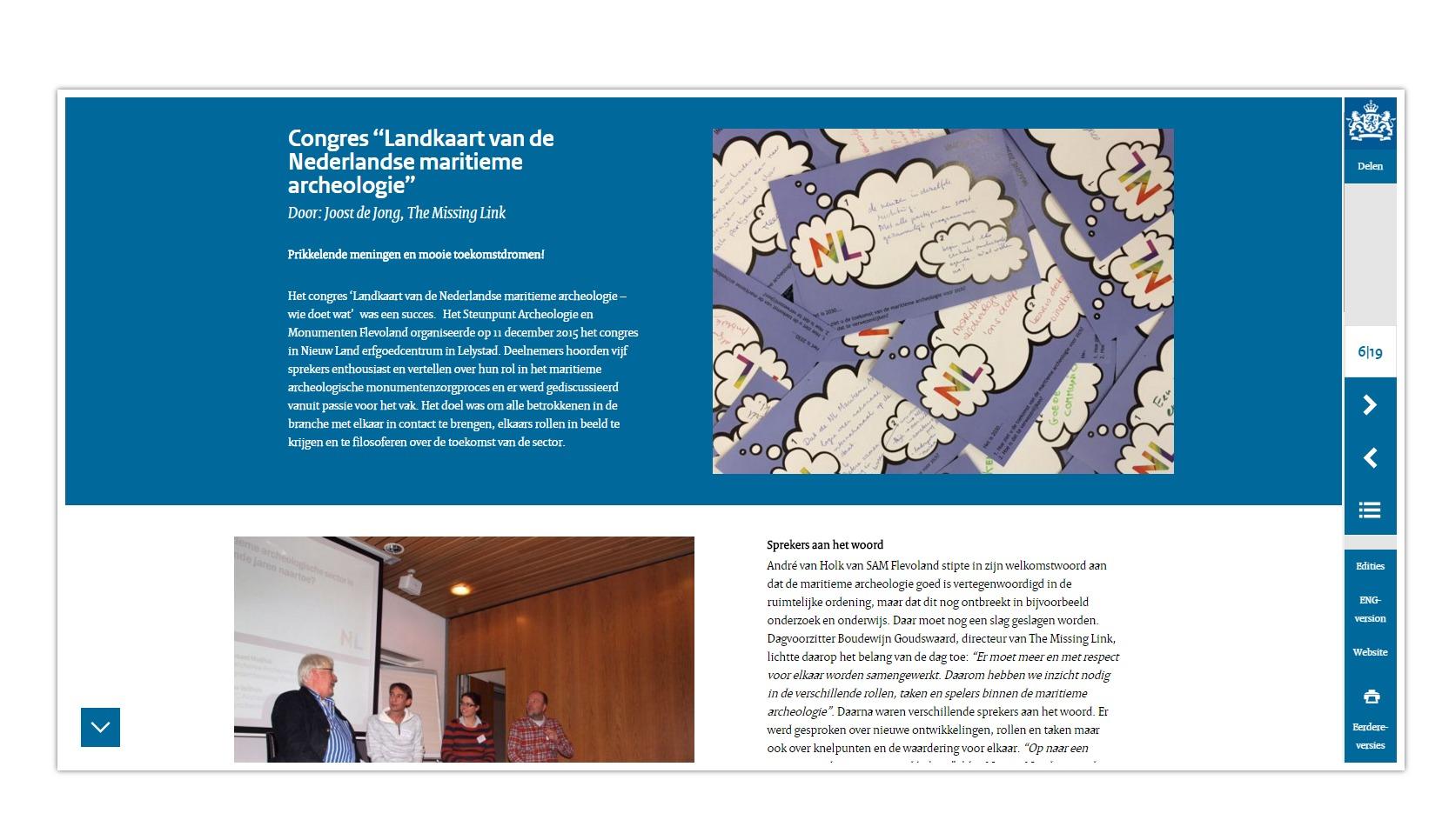 MP06 NL   Congres ''Landkaart van de Nederlandse maritieme archeologie 2